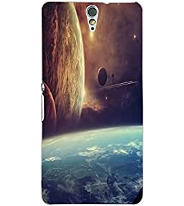 SONY XPERIA C5 SPACE VIEW Back Cover by PRINTSWAG