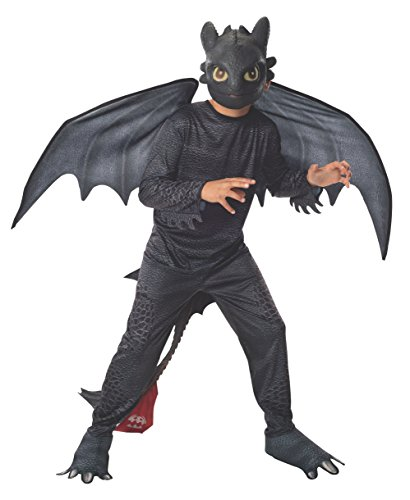 Rubies How To Train Your Dragon 2 Night Fury Costume, Child Small front-510778
