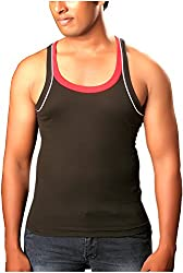 Jack Boy Men's Cotton Vest (jbmvfoblack, Black, 75)
