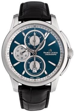 Maurice Lacroix Men's PT6188-SS001430 Pontos Blue Chronograph Dial Watch from Maurice Lacroix
