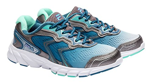 FILA STELLARAY WOMEN'S RUNNING ATHLETIC SHOES SNEAKERS (9, Silver/Blue)