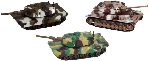 DELUXE MILITARY DIE CAST TOY TANKS - 3 PIECE SET (Diecast Military Tanks compare prices)