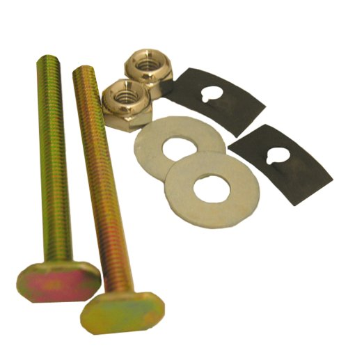 Lasco 04-3631 Solid Brass 1/4-Inch by 2-1/2-Inch with Nuts and Washers Toilet Bolts