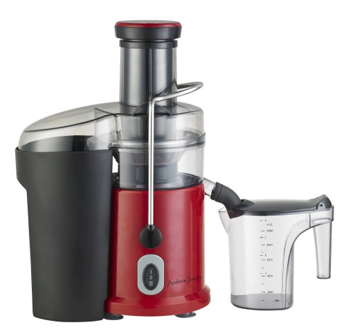 Andrew James Professional Whole Fruit Super Power Juicer 1035 watts in Stunning Red, includes cleaning brush and froth separator and large 2.5 litre pulp container