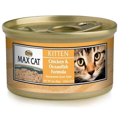 Nutro Nutro Max Kitten Chicken/Oceanfish Formula Kitten Food 3 Oz Cans / Case Of 24 Canned Food