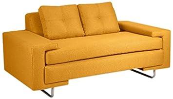 Loni M. Designs Rico Love Seat - Mustard