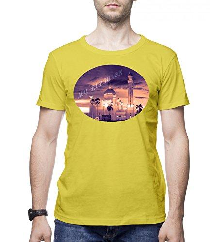 My Religion Men's CLASSIC Crew neck T-Shirt Giallo Large