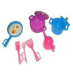 Imported 1 Set Plastic Kitchenware for 29cm Barbie Dolls Random Color