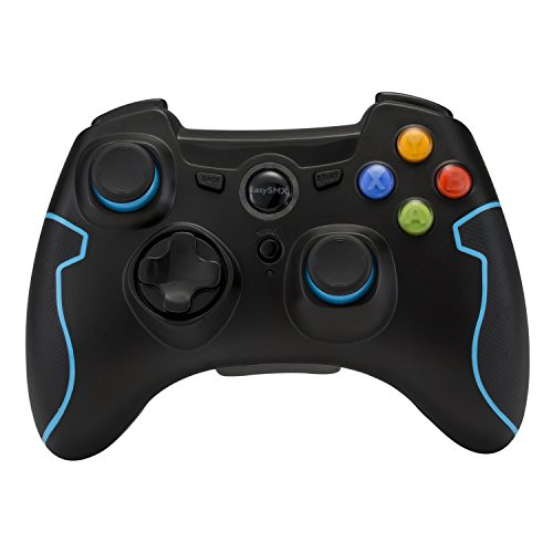 EasySMX Wireless 2.4g Game Controller Support PC (Windows XP/7/8/8.1/10) and PS3, Android, Vista, TV Box Portable Gaming Joystick Handle Black and Blue