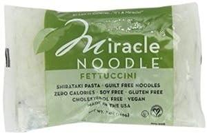 Miracle Noodle Shirataki Pasta, Fettuccini, 7-Ounce (Pack of 6)