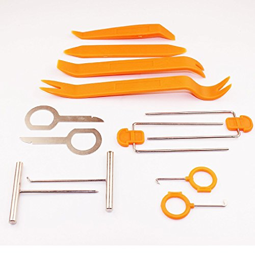 BlingKingdom 12 pcs Auto Pry Tools Kit Door Trim Panel Dash Stereo Radio Interior Light Removal (Satellite Tool Kit compare prices)