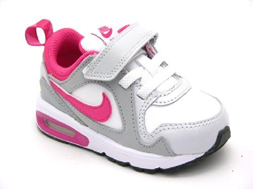 Nike Schuhe Kinder Mädchen Air max trax (tdv) White/vvd pnk-pr pltnm-wlf gry, Größe Nike:8C