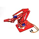 MeArm Compatible ArmUno A1HD Desktop Robot Arm Kit Improved Version with Plain Bearings MeCon Motion Control Software on CD ROM With Arduino Robot Code. Build and Learn STEM Project Teaches Robotics.