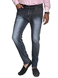Scorzio Men's Regular Fit Jeans (SZ0007_3_Dark Grey_34)
