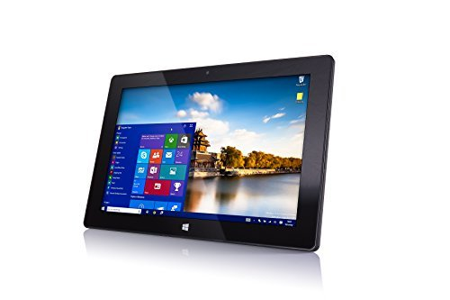 "10"" 32GB Windows Tablet PC from Fusion5®, Now in Windows 10, Intel Baytrail-T CR (Quad-Core) Z3735F, Touch Screen, Bluetooth, Dual Camera, 1GB DDR3 (10"" IPS-1280*800)"