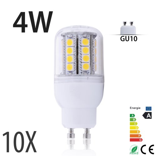4W E14/E27/G9/Gu10 Led Lamp 31 Leds 5050 Smd Warm White Corn Energysaving Light Bulb 230V Hot (10, Ym31-4Wgu10)