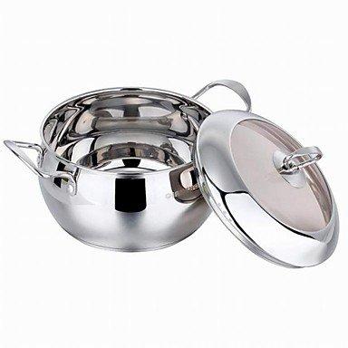 5 QT Stainless-steel Soup PotsDia 22cm x H12cm BOYI B00TEMZXO8