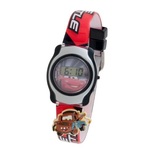 Disney Cars Digital LCD Mcqueen Watch with Slide on Characters - 1