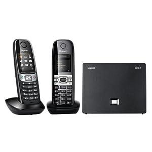 Gigaset C610 IP Duo Téléphone VoiP sans fil avec Eco DECT combiné supplémentaire Noir