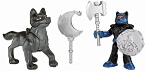 Fisher-Price Imaginext Eagle Talon Castle Knight and Wolf