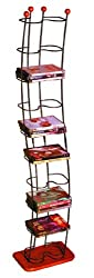 Atlantic Wave 1386   Click to enlarge Wave DVD Tower (Black Steel/Cherry Wood Base )