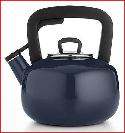 Martha Stewart Collection Enameled Steel 2.5 Qt. Tea Kettle - Blue