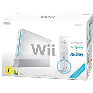 "Nintendo Wii ""Sports Resort Pack"" - Konsole inkl. Wii Sports, Wii Sports Resort, Remote Plus Controller, weiß"