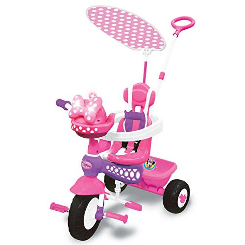 Durable-Metal-Frame-Kiddieland-Disney-Minnie-Mouse-Push-N-Ride-Trike
