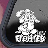 MICKEY DISNEY FIRE FIGHTER White Decal Sticker Die-cut White Decal Sticker