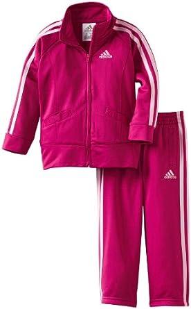 adidas Little Girls' ITB Iconic Tricot Set, Festival Fuchsia, 3T