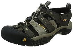 KEEN Men\'s Newport H2 Sandal, Black Olive/Brindle, 12 M US