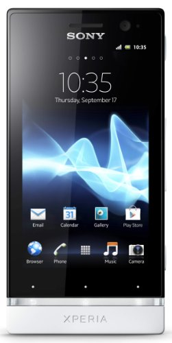 Sony Xperia U ST25A-BW Unlocked Phone with Android 2.3 OS and 3.5-Inch Touchscreen--U.S. Warranty (Black/ White)