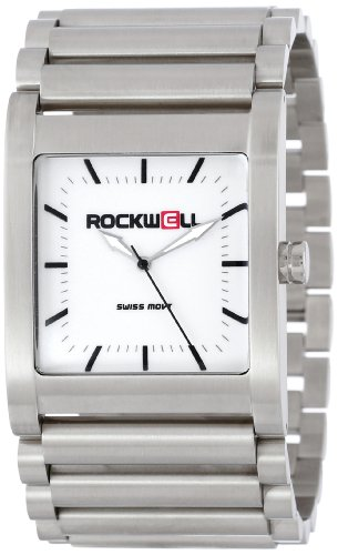 Rockwell Time Unisex RK101 Rook Stainless Steel Silver and White Watch