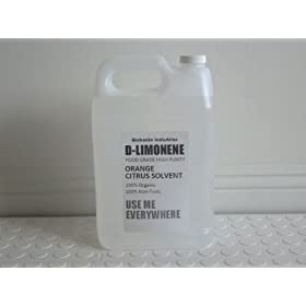 Blubonic Industries 100% d-Limonene FOOD GRADE HIGH PURITY Citrus Solvent Orange Oil Dlimonene 1 Gallon