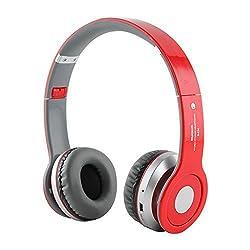 S450 wireless Bluetooth FM Radio TF Card Noise Canceling Headphone Red