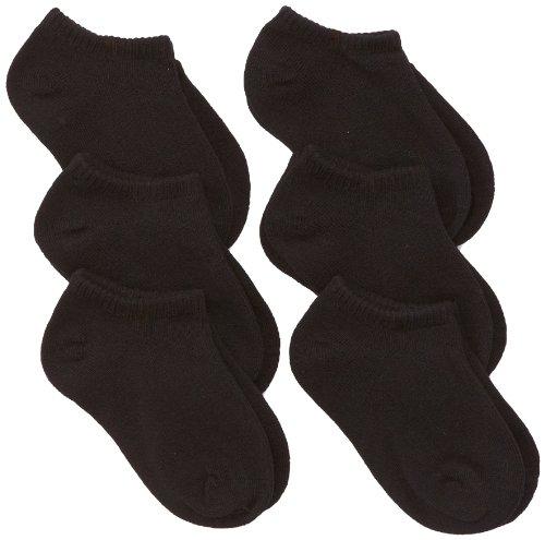 Jefferies Socks Little Boys' Seamless Boy Capri Liner Socks 6 Pair Pack, Black, Toddler