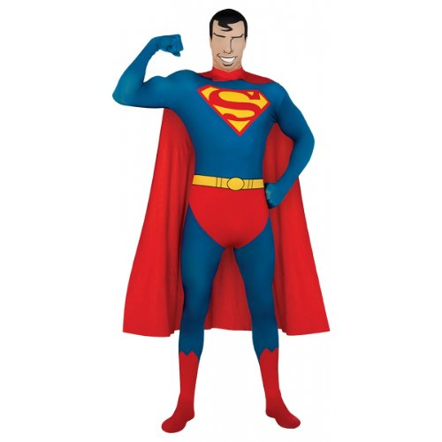 DC Comics Adult Superman 2nd Skin Zentai Super Suit - M, L or XL