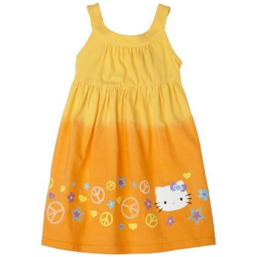 Hello Kitty Girls Cotton Jersey Dress,banana,2t