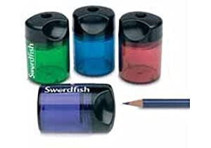 Swordfish Single Hole Canister Tub Pencil Sharpener 40147