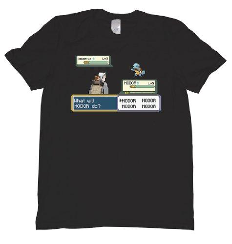 Hodor Pokemon Parody Tee Shirt Mens XXL black U