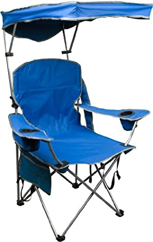 Quik Shade Camping Chair with Adjustable Canopy, Blue