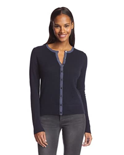 Cashmere Addiction Women's Tipped Cardigan Sweater