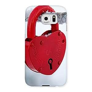 Impressive Red Lock Multicolor Back Case Cover for Samsung Galaxy S6