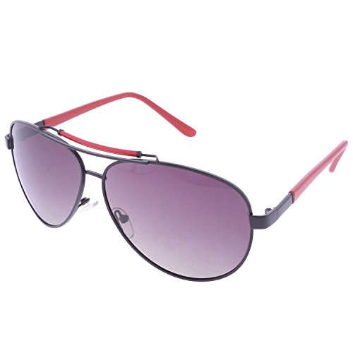 Iris Iris Aviator Purple Sunglasses(Ie231p-Purple-Gradient-Red-T) (Multicolor)