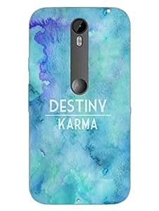 Moto X Style Back Cover - Destiny Vs Karma - Typography - Designer Printed Hard Shell Case