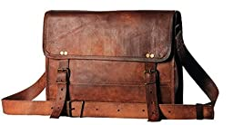 HandMadeCart Men\'s Auth Real Leather Messenger Laptop Briefcase Satchel Mens Bag