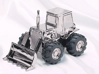 Creative Gifts Front Loader Bank, Nickel Plated. - 1