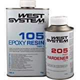 West Systems A Pack Epoxy Resin Kit [105/205] 1.2Kg