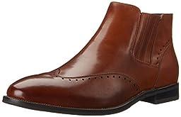 Stacy Adams Men\'s Kingsley Boot, Cognac, 10.5 M US