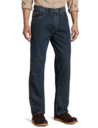 Genuine Wrangler Men's Loose Fit Jean,Greyed Indigo,30x30